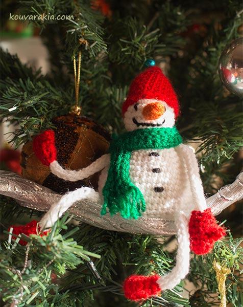 crochet-snowman