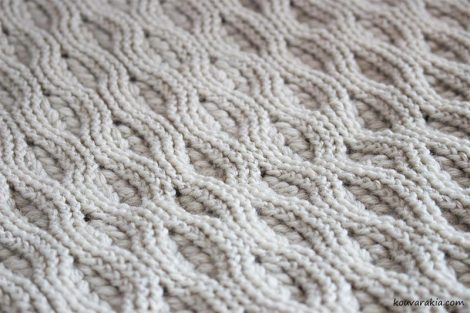 cables and puff stitch