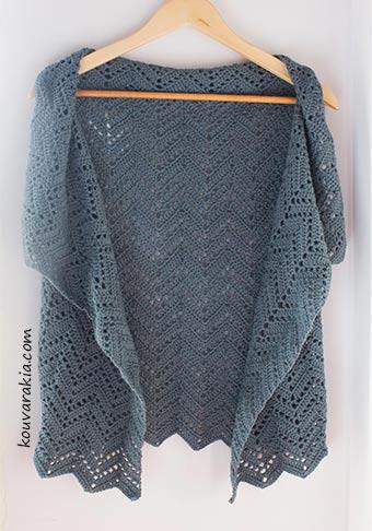 chevron wrap vest