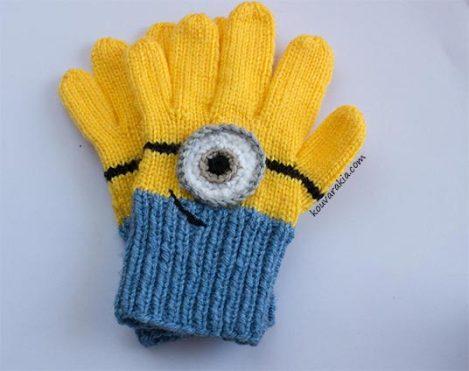 knit-minions-gloves