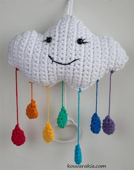 crochet cloud musical mobile