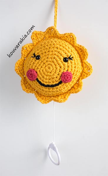 crochet sun musical mobile
